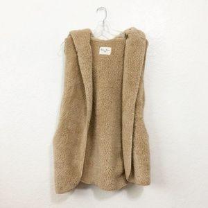 Love Tree Teddy Coat Vest